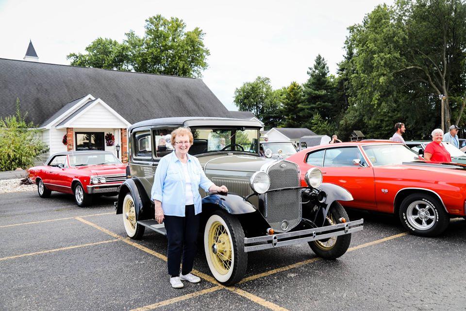 presenting a classic car